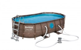 Basen Stelażowy 427 cm x 250 cm x 100 cm, Power Steel Swim VISTA series BESTWAY