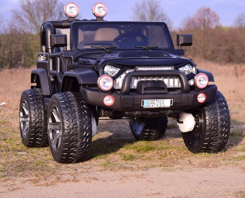 MEGA JEEP PERFECT 002B EXCLUSIVE 4x4, WOLNY START/ MIĘKKIE KOŁA,/HP-002B